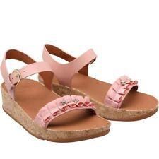 Size 7 FitFlop Womens Ruffle Back Strap Sandals Dusky Pink MJK