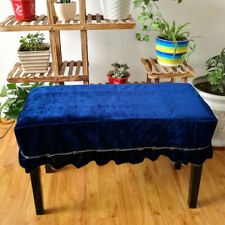 Universal Piano Stool Chair Cover Cloth for Piano Seat Bench Blue 2-Seater