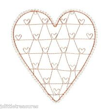 Large Copper Vintage Shabby Chic Wire Heart Photo Card Memo Holder Wedding Gift