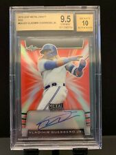 2019 Leaf Metal Draft VLADIMIR GUERRERO JR. Red Prismatic Auto 3/5 BGS 9.5 10