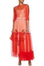 Stella McCartney Red Mesh Sheer Maxi Dress Gown RRP $1200