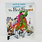 Vintage Color By Number with Complete Story of The Pied Piper Coloring Book