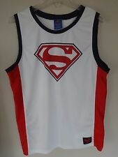Vintage DC Comics Superman # 1 Men Medium Sleeveless Basketball Jersey