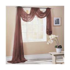chocolat marron 150x500cm SUR MESURE écharpe de fenêtre voile lambrequin