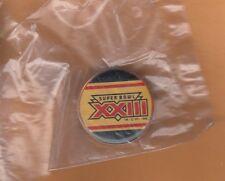 1989 SUPER BOWL XXIII LOGO LAPEL PIN SAN FRANCISCO 49ERS CINCINNATI BENGALS MIB