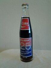 1962-1987 WAL-MART 25th ANNIVERSARY COCA COLA 10OZ BOTTLE