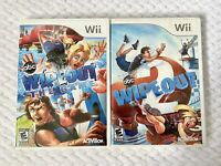 Wipeout: The Game & Wipeout 2 Nintendo Wii Lot Bundle W/ Manuals TESTED