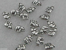 8mm x 6mm Pewter Elephant Beads (20) Lead-Safe