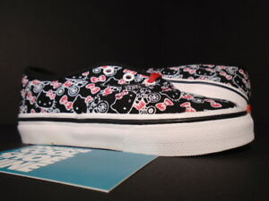 Baby 2011 VANS AUTHENTIC TD HELLO KITTY BLACK WHITE RED VN-0JXIL8S NEW 8C 8