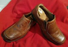 Born Men's Leather Brown - Size 10.5 EU 44.5 - Slip on loafers - M6256 CQB12