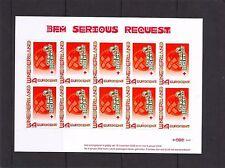 Nederland NVPH 2619 Vel Persoonlijke Decemberzegels 2008 Serious Request Postfr.