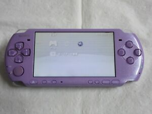 D874 Sony PSP 3000 console Lilac purple Limited Model Handheld system REAR x