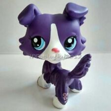 Hasbro Littlest Pet Shop Collection LPS Loose Toys Purple White Collie Dog Pugg1