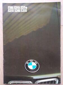 Introuvable - Brochure BMW série 5 - Février 1985 - Français