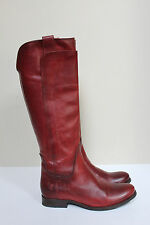 FRYE sz 6 Melissa Tall Riding Boot  Redwood Brown Low heel Shoes
