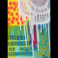 Matt Scalf Abstract ORIGINAL PAINTING 9x12 Modern Contemporary Expressionist