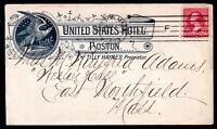 USA 1893 United States Hotel illustrated 2c cover WS11193