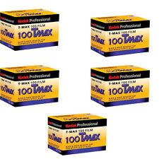 5 Rolls Kodak TMX 135-36 T-Max 100 Pro Black & White 35mm Film