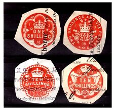 GB Embossed Revenue Stamps. Used. #1135