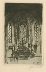 Original Art Deco Etching by GREMILLET F. / France