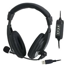 USB-HEADSET STEREO-KOPFHÖRER PC-HEADSET MIT FERNBEDIENUNG LEICHT USB-ANSCHLUSS