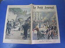 Le petit journal 1901 549 Espagne émeutes à Barcelone Mort ours Martin