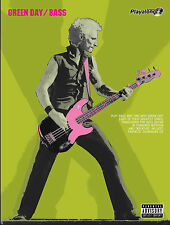 GREEN DAY AUTHENTIC BASS Playalong POP PUNK ROCK GUITAR TAB FABER music book & CD