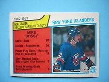 1983/84 O-PEE-CHEE NHL HOCKEY CARD 1 MIKE BOSSY TEAM LEADER NM SHARP!! 83/84 OPC