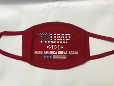 Double Layer Patriotic Trump 2020 Make  America Great Again Red Face Mask