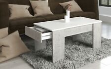99175BW3 / Couchtisch Tisch Beistelltisch Stubdentisch Beton Weiß Nachbildung  .