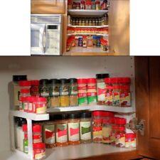 Adjustable Double Layers Spicy Shelf Kitchen Spice Organizer Storage RaB⊥