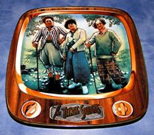 THE THREE STOOGES PAR FOR THE WORSE GOLF Musical DREW STRUZAN COMEDY TV PLATE