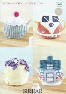 Sirdar Tea Cosy Knitting & Crochet Pattern - 7221 - DK Double Knit