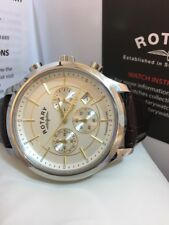 NEW Rotary Classic Men's GS03631 Chronograph Swiss Brown Leather Watch RRP £229