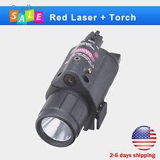 LED Flashlight/light+Red Laser Sight Combo for Pistol/Gun Handgun 20mm Rail