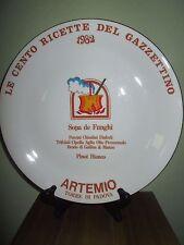 Royal Tognana Italy Plate Le Cento Ricette Del Gazzettino 1982 Artemio 9.5: