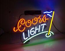 Coors Light Golf Flag Boutique Bar Room Wall Decor Neon Sign Light Beer Pub