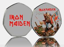 Iron Maiden FULL COLOUR Souvenir  'The Trooper' Artwork  50p collectors.Silver