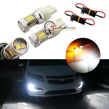 Switchback Dual-Color LED Front Turn Signal Lights For 2011-2016 Chevrolet Volt