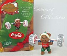Enesco Can't Weight for The Holidays Diet Coke Ornament Coca Cola Bear 1993