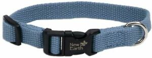 "New NWT Classic Standard Soy Dog Collar New Earth Large 1""x 18-26"" Slate Blue"