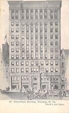 Wheeling West Virginia~Schmulbach Building~Trolley~Artist~1905 B&W Postcard