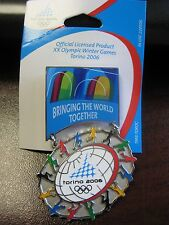 "Torino 2006 Olympic Pin - ""Bringing The World Together"" Over-sized"