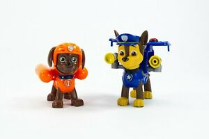 2 x Chase Police and Zuma Paw Patrol Action Pack Figures Bundle Lot