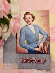 Vintage 1950's Lady's Lace Stitch Cardigan Knitting Pattern Fit 35in. Bust