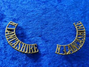 N. Lancashire (Royal Regiment) 1907-1920 Brass Army metal shoulder title England