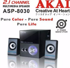 BN AKAI Speakers With Volume, Bass and Treble