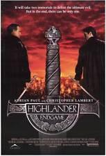 HIGHLANDER: ENDGAME Movie POSTER 27x40 Christopher Lambert Adrian Paul Bruce