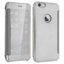 Etui Housse Coque Clear View Cover miroir Argenté pour Apple IPHONE 6 Iphone 6S