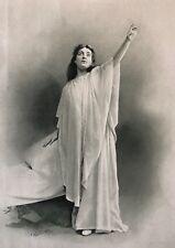 Sibyl Sanderson (1864-1903) Soprano Opéra Thaïs photogravure sur vélin fort